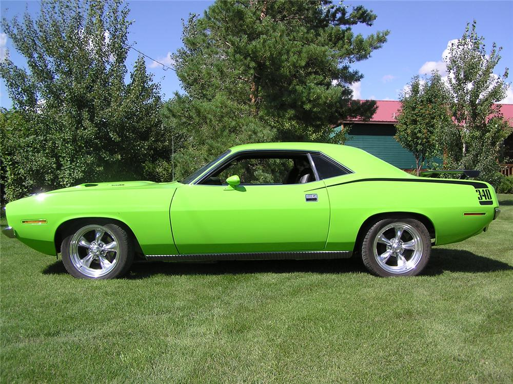1970 PLYMOUTH CUDA COUPE - Side Profile - 44769