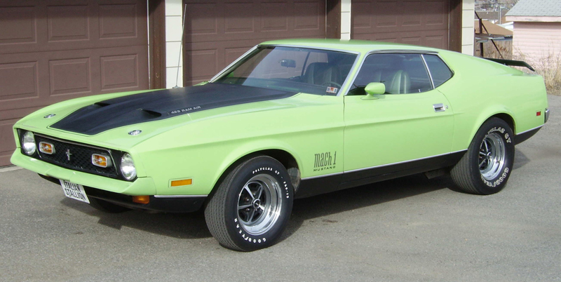 1971 FORD MUSTANG MACH 1 FASTBACK - 44796 Mustang Mach 1 Fastback 1971