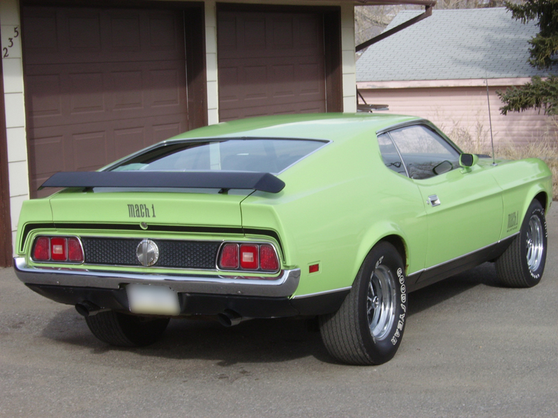 1971 ford mustang mach 1 fastback rear 3 4 44796. Cars Review. Best American Auto & Cars Review