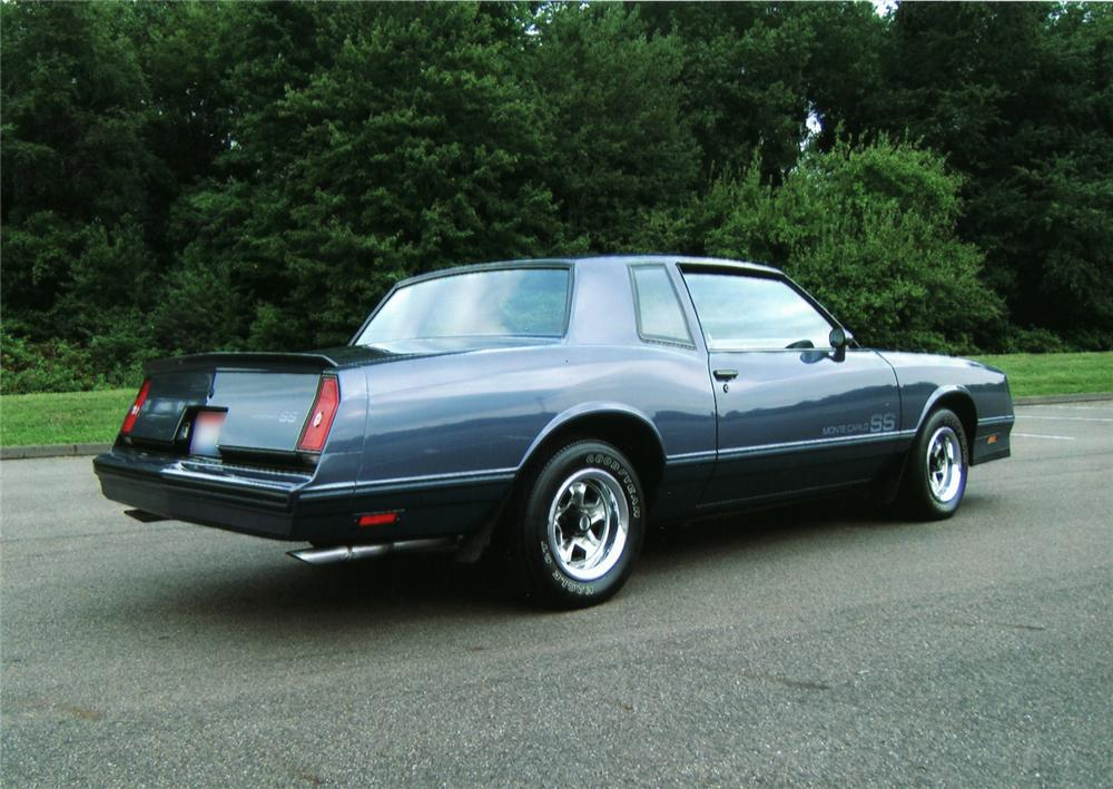 1984 CHEVROLET MONTE CARLO SS 2 DOOR HARDTOP - Rear 3/4 - 44805