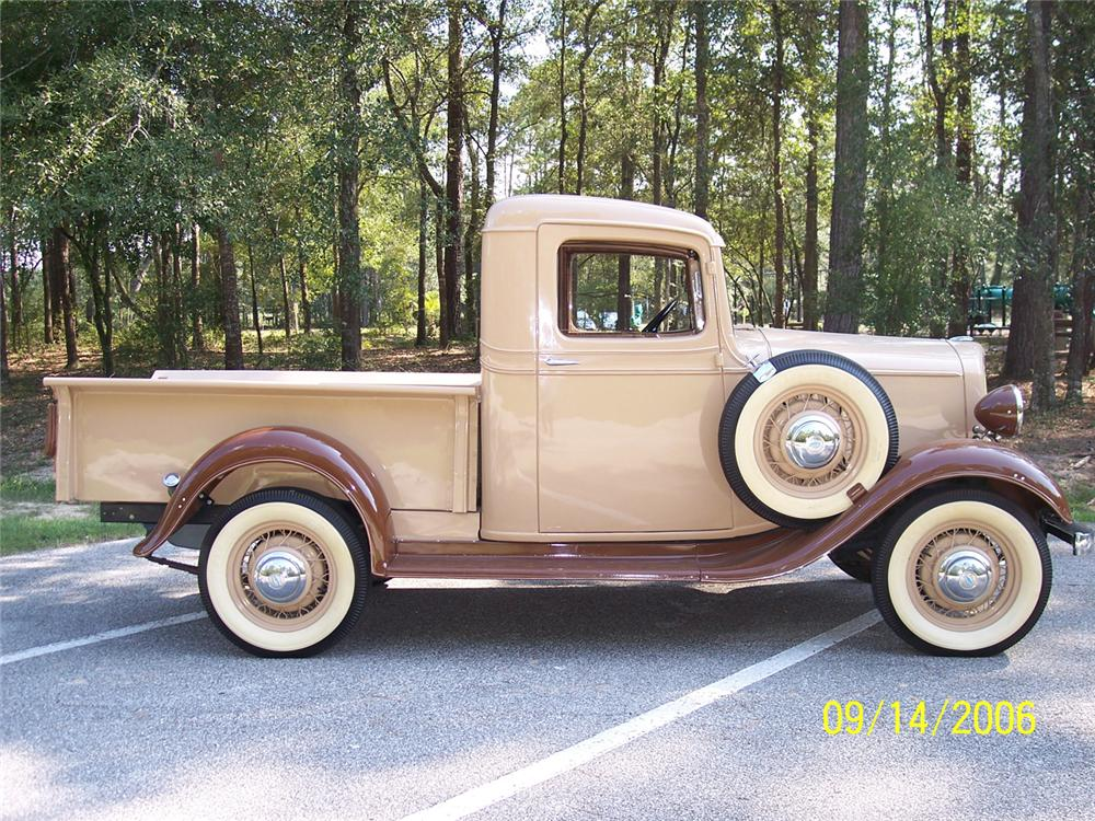 1934 CHEVROLET SHORT BED PICKUP - Side Profile - 44834