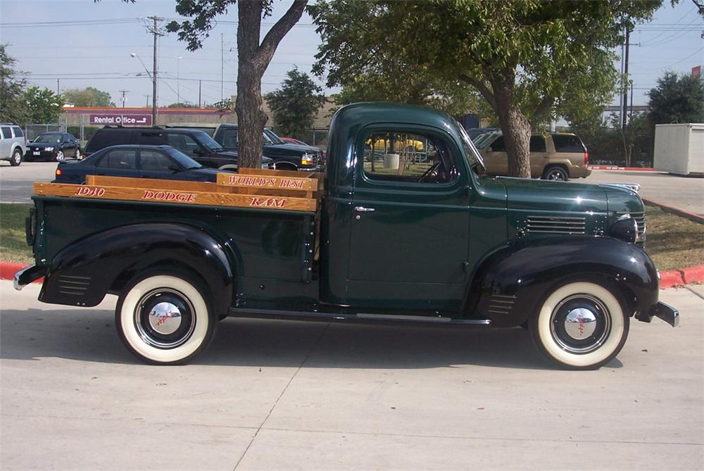 1940 DODGE STEPSIDE PICKUP - Side Profile - 44836