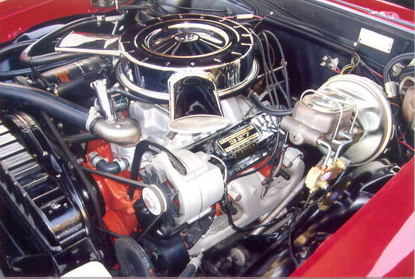 1965 CHEVROLET CHEVELLE MALIBU SS CONVERTIBLE - Engine - 44838