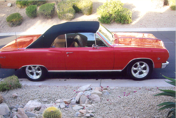1965 CHEVROLET CHEVELLE MALIBU SS CONVERTIBLE - Side Profile - 44838