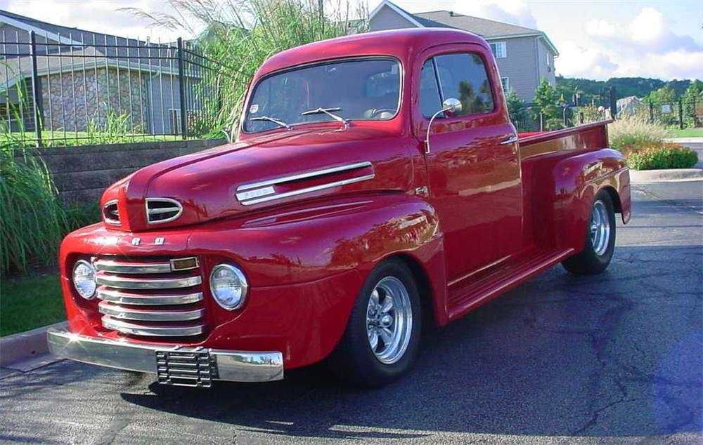 1948 FORD F-100 CUSTOM PICKUP - Front 3/4 - 44841