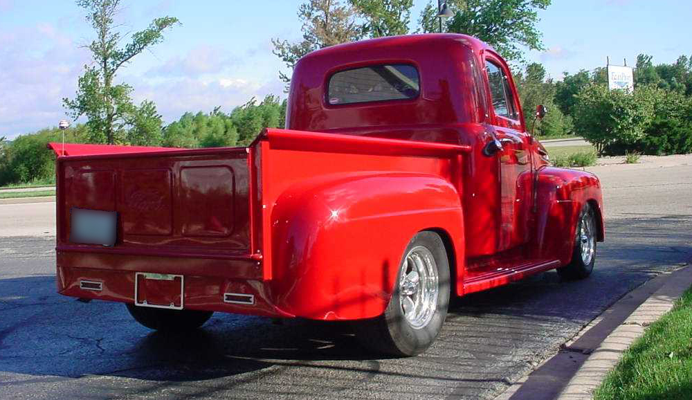 1948 FORD F-100 CUSTOM PICKUP - Rear 3/4 - 44841