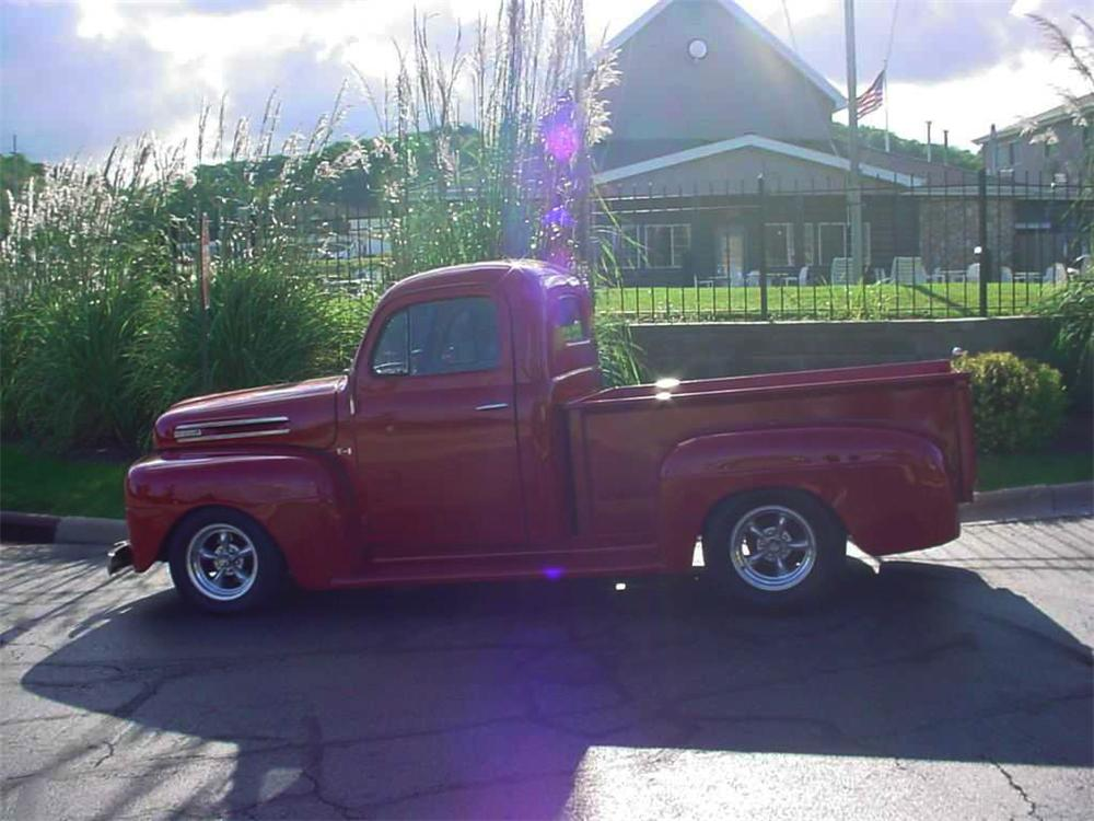 1948 FORD F-100 CUSTOM PICKUP - Side Profile - 44841