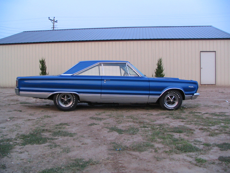 1967 PLYMOUTH SATELLITE 2 DOOR HARDTOP - Side Profile - 44846