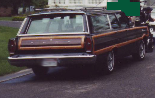 1965 FORD COUNTRY SQUIRE WAGON - Rear 3/4 - 44848