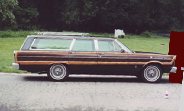 1965 FORD COUNTRY SQUIRE WAGON - Side Profile - 44848