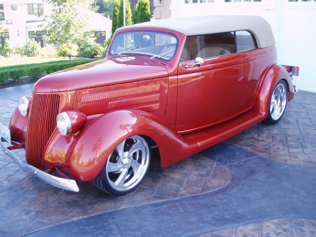 1936 FORD CUSTOM CABRIOLET - Front 3/4 - 44899