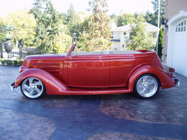 1936 FORD CUSTOM CABRIOLET - Side Profile - 44899