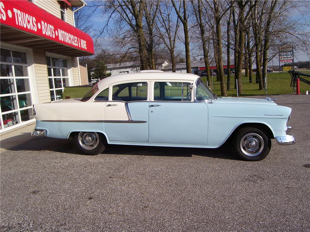 1955 CHEVROLET 210 4 DOOR - Side Profile - 44901