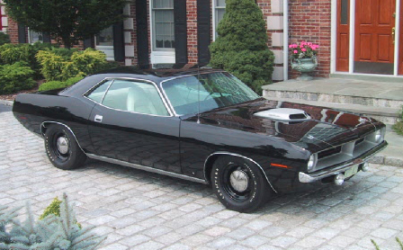 1970 PLYMOUTH HEMI CUDA COUPE - Front 3/4 - 45049