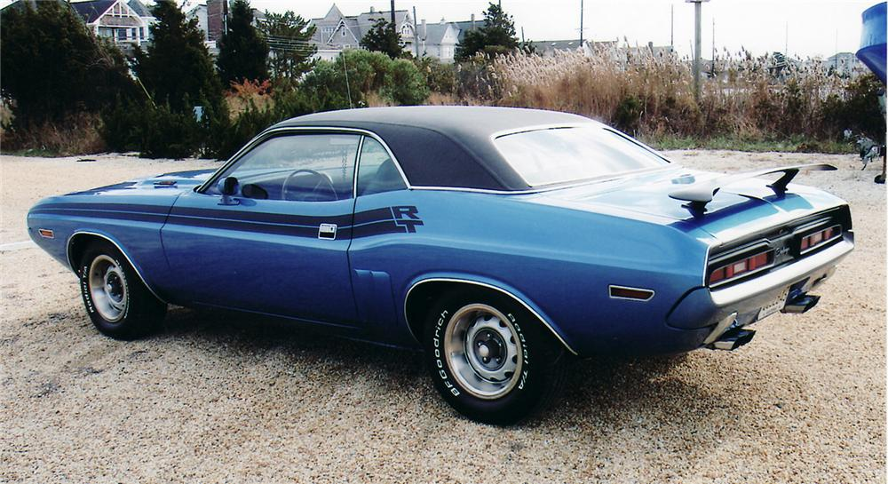 1971 DODGE CHALLENGER R/T COUPE - Rear 3/4 - 45053