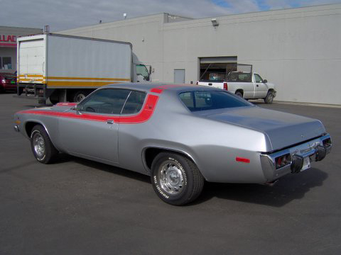 1973 PLYMOUTH ROAD RUNNER 2 DOOR HARDTOP - Rear 3/4 - 45098