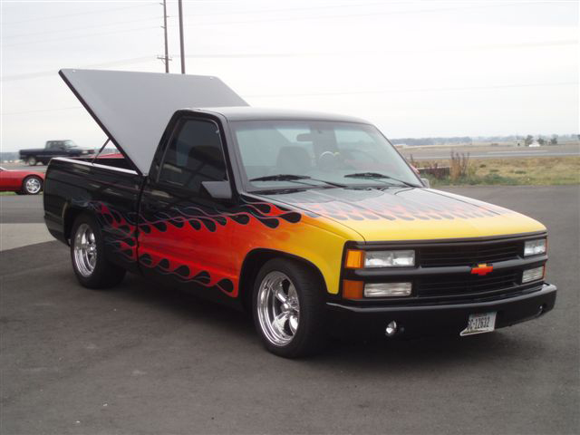 1995 CHEVROLET C-10 CUSTOM PICKUP - Front 3/4 - 45099