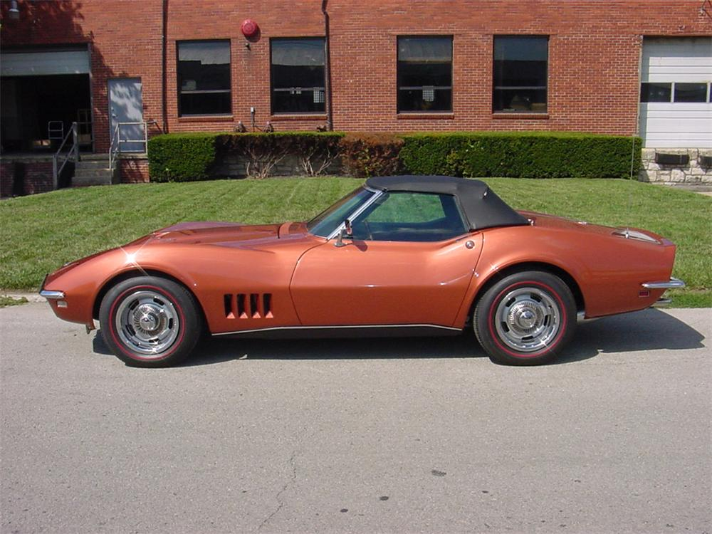 1968 CHEVROLET CORVETTE CONVERTIBLE - Side Profile - 45121
