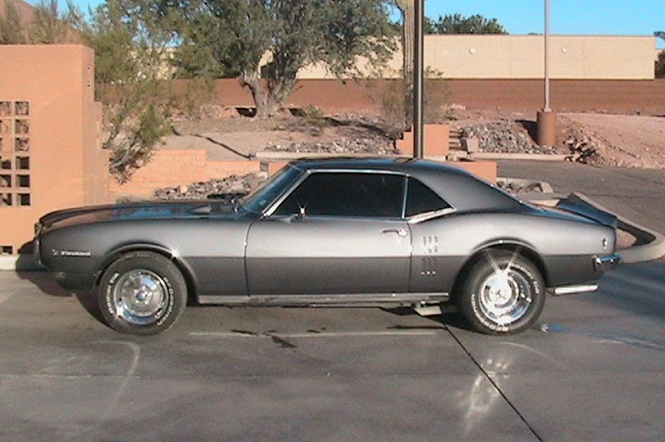 1968 PONTIAC FIREBIRD CUSTOM COUPE - Side Profile - 45153