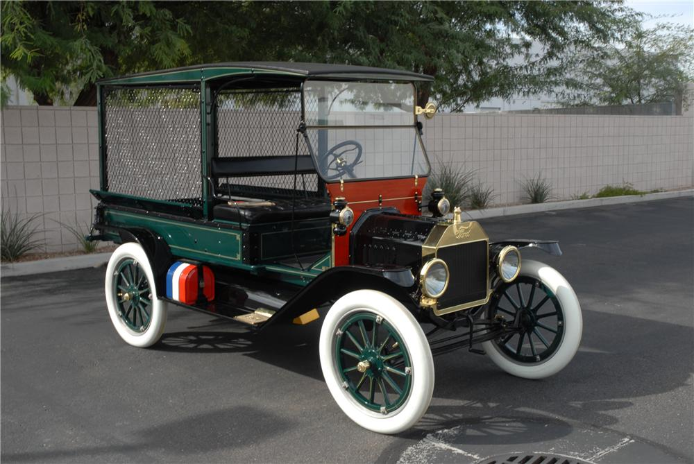 1915 FORD MARTIN-PERRY BODIED T DELIVERY - Front 3/4 - 45250