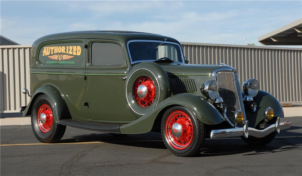 1934 FORD DELUXE SEDAN DELIVERY - Front 3/4 - 45252