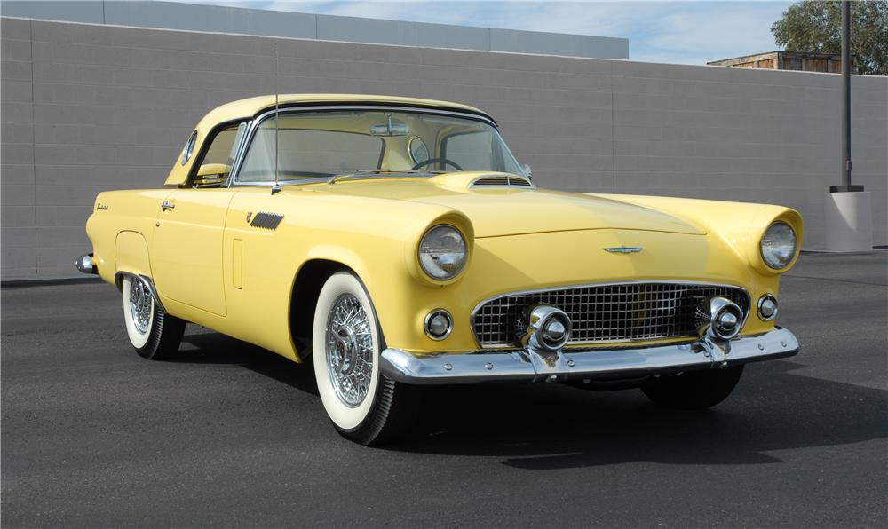 1956 FORD THUNDERBIRD CONVERTIBLE - Front 3/4 - 45270