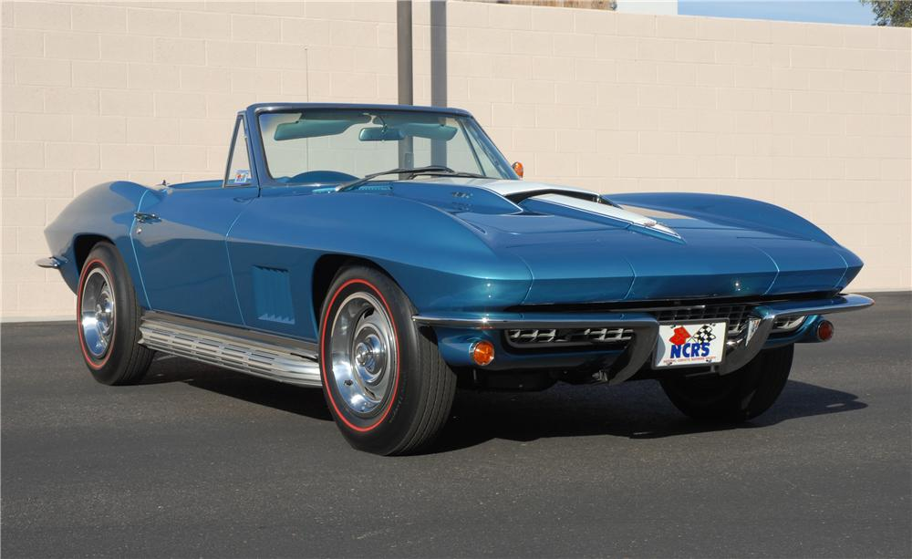 1967 CHEVROLET CORVETTE CONVERTIBLE - Front 3/4 - 45275