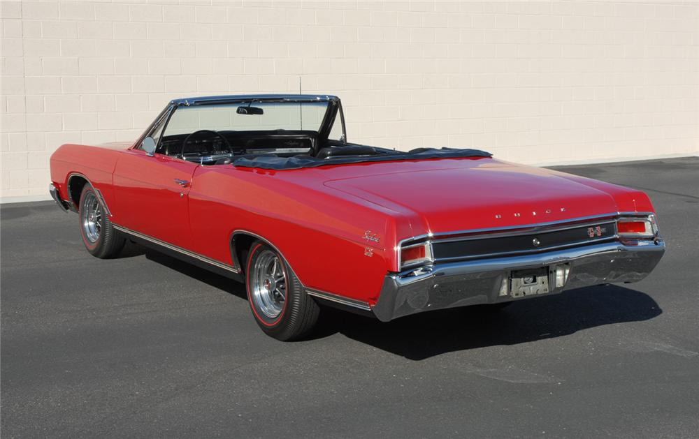 1966 BUICK GRAN SPORT CONVERTIBLE - Rear 3/4 - 45283