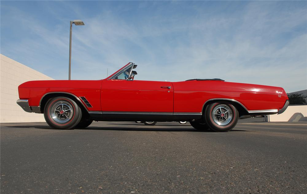 1966 BUICK GRAN SPORT CONVERTIBLE - Side Profile - 45283