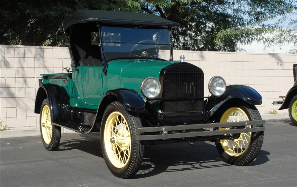 1927 FORD MODEL T ROADSTER PICKUP - Front 3/4 - 45290