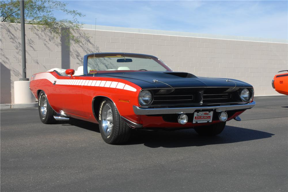 1970 PLYMOUTH CUDA AAR CONVERTIBLE RE-CREATION - Front 3/4 - 45292