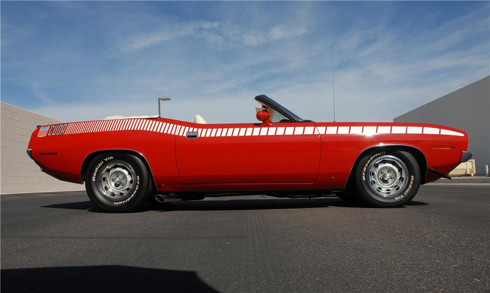 1970 PLYMOUTH CUDA AAR CONVERTIBLE RE-CREATION - Side Profile - 45292