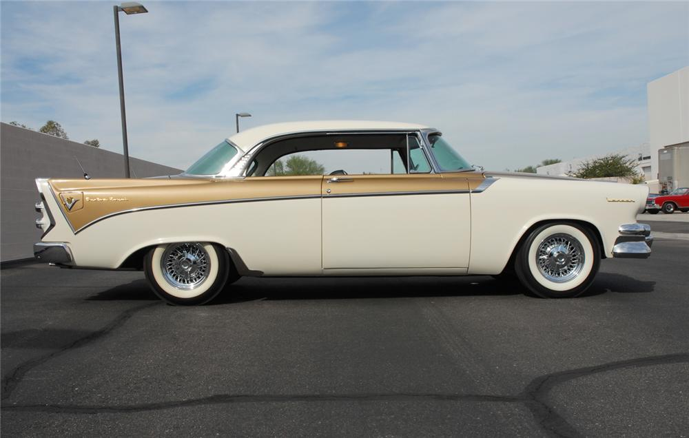 1956 DODGE CUSTOM ROYAL GOLDEN LANCER - Side Profile - 45296
