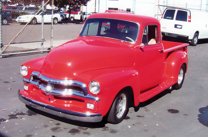 1955 CHEVROLET CUSTOM PICKUP - Front 3/4 - 45315