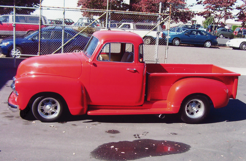 1955 CHEVROLET CUSTOM PICKUP - Side Profile - 45315