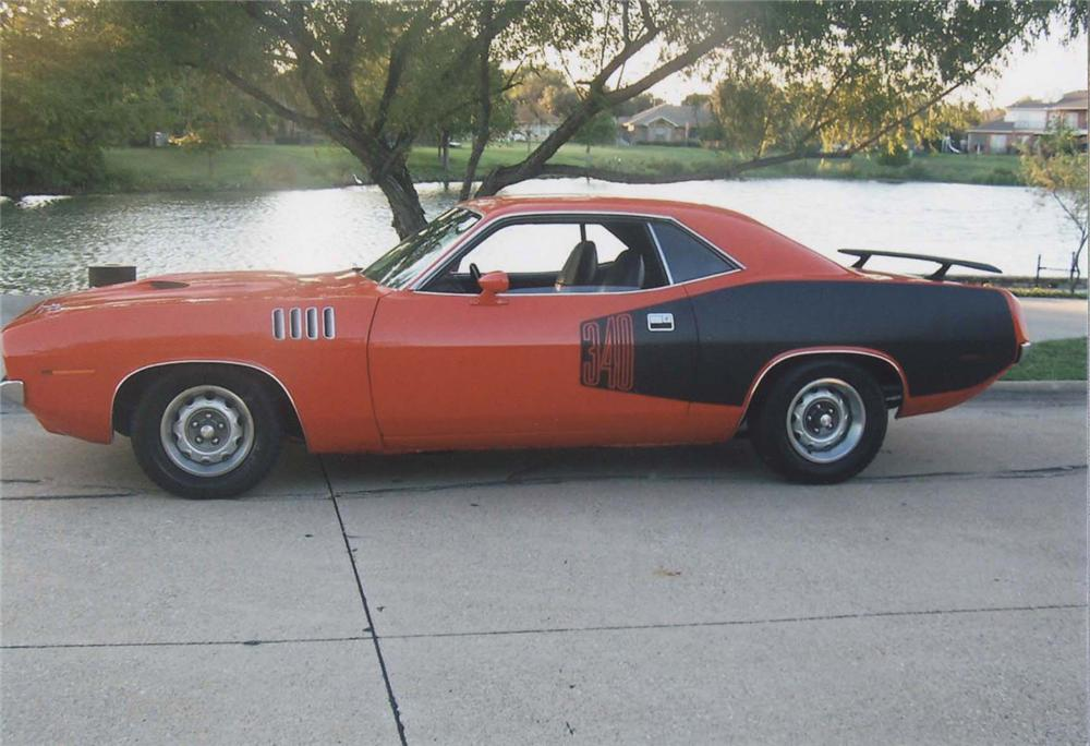 1971 PLYMOUTH CUDA COUPE - Side Profile - 45353