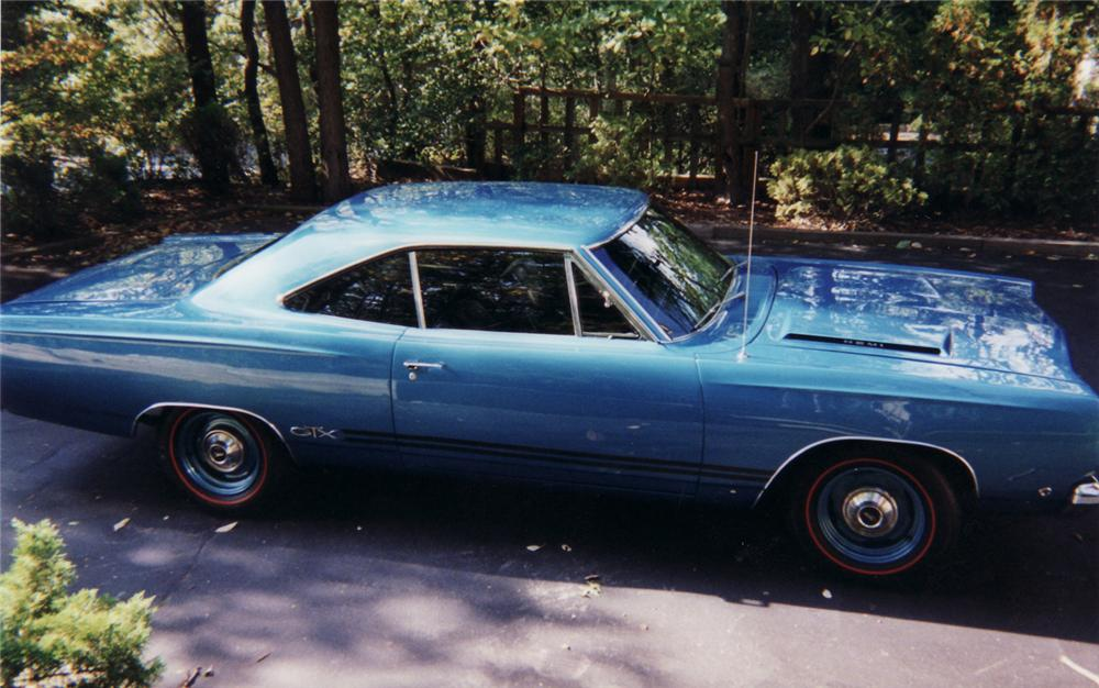 1968 PLYMOUTH HEMI GTX 2 DOOR HARDTOP - Side Profile - 45358