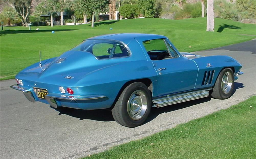 1966 CHEVROLET CORVETTE COUPE - Rear 3/4 - 45365