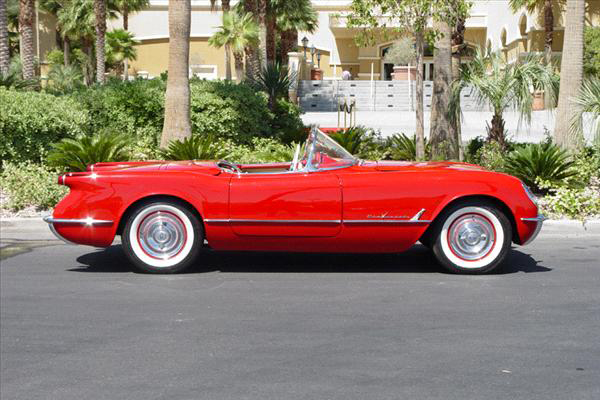 1955 CHEVROLET CORVETTE CONVERTIBLE - Side Profile - 45399