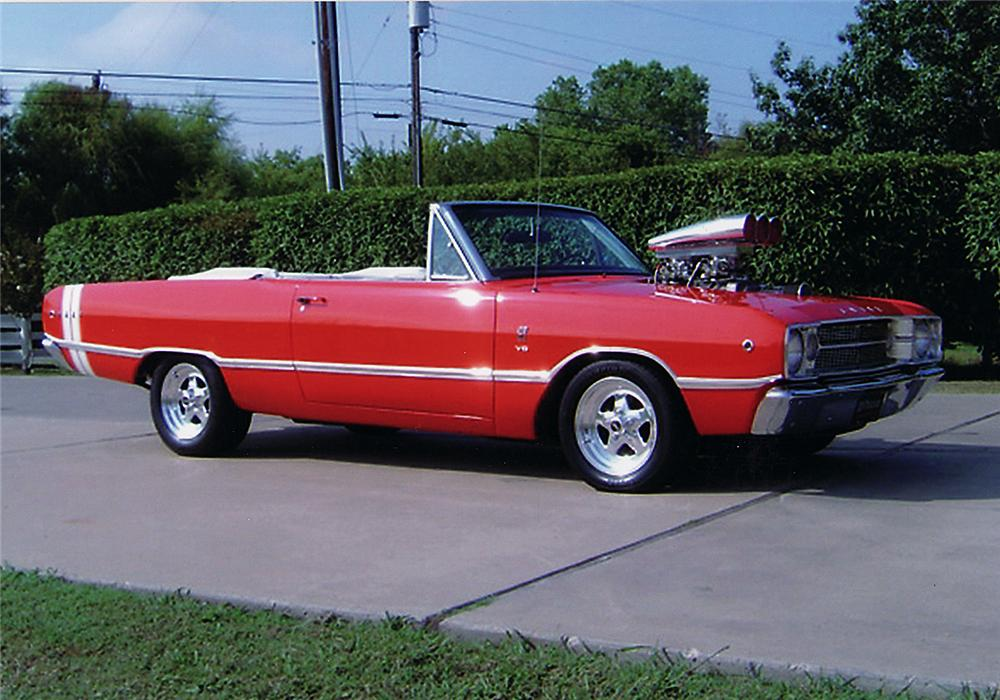 1968 DODGE DART GTS CUSTOM CONVERTIBLE - Side Profile - 45402