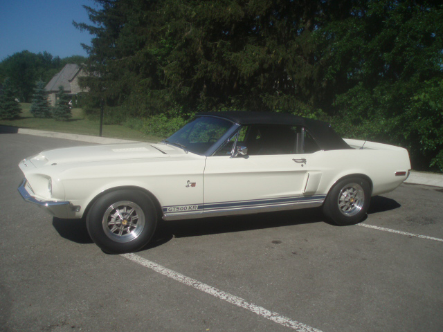 1968 SHELBY GT500 KR CONVERTIBLE - Side Profile - 45414