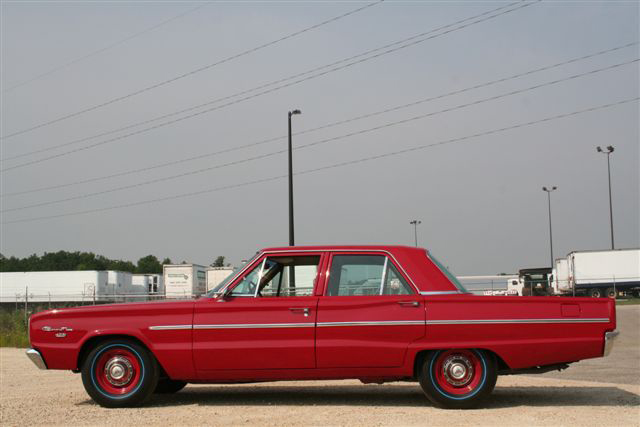 1966 DODGE HEMI CORONET DELUXE 4 DOOR - Side Profile - 45419