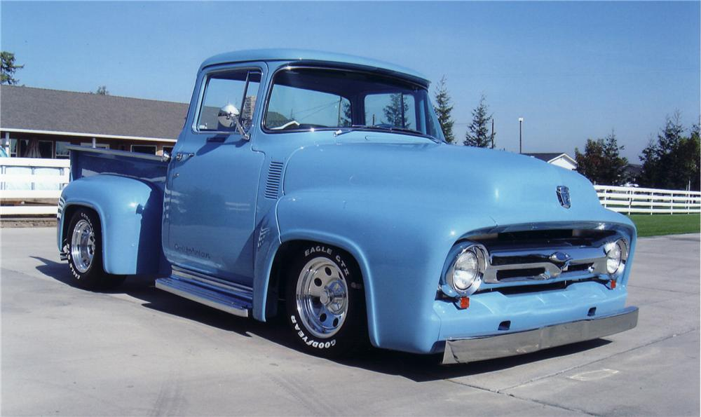 1956 FORD F-100 CUSTOM PICKUP - Front 3/4 - 45468