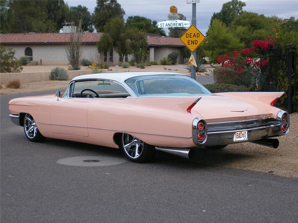 1960 CADILLAC COUPE DE VILLE CUSTOM - Rear 3/4 - 45473