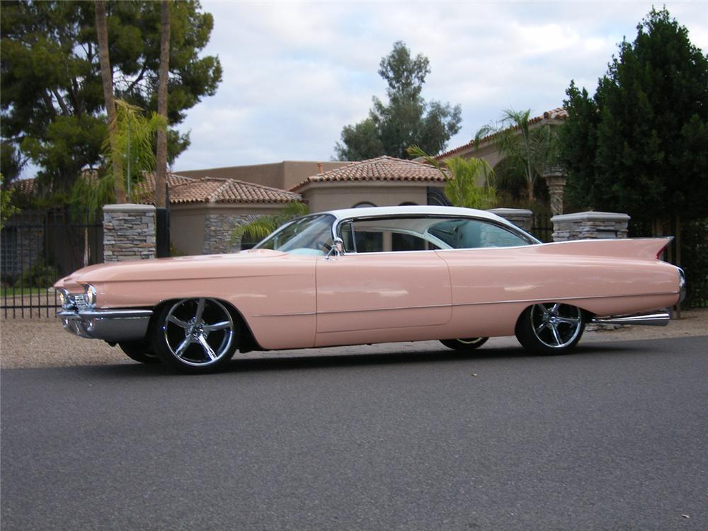 1960 CADILLAC COUPE DE VILLE CUSTOM - Side Profile - 45473