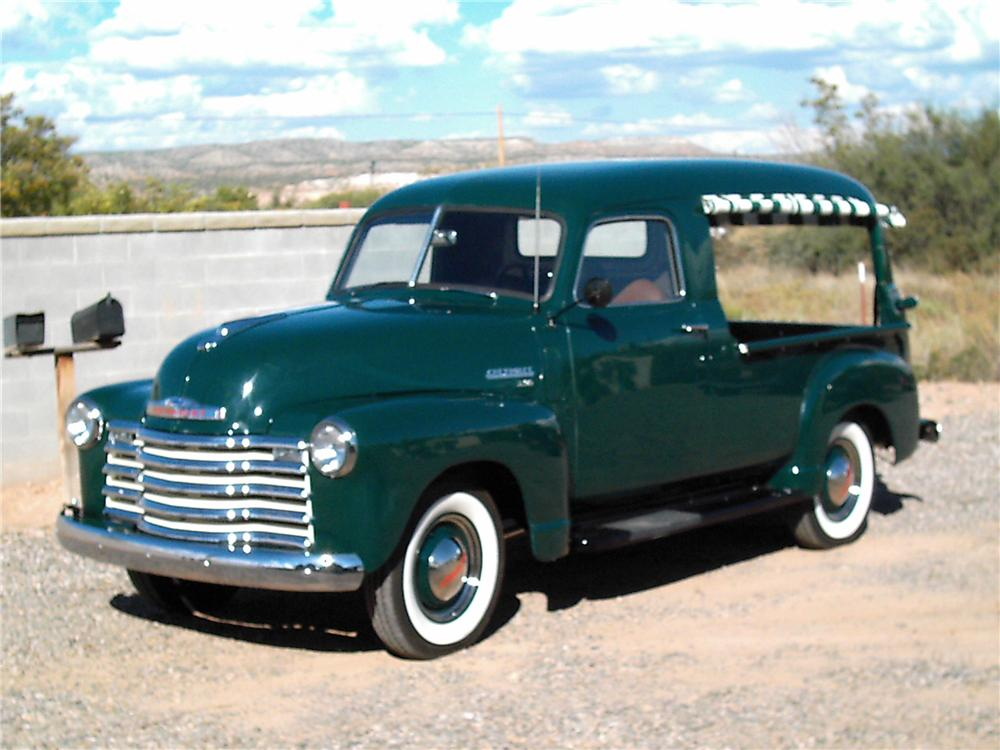 1949 CHEVROLET 3107 CANOPY EXPRESS TRUCK - Front 3/4 - 45522