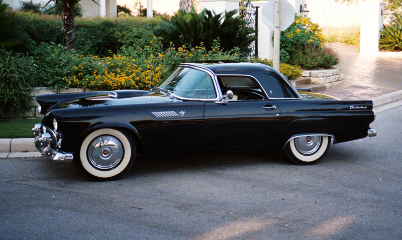 1955 FORD THUNDERBIRD CONVERTIBLE - Side Profile - 45527