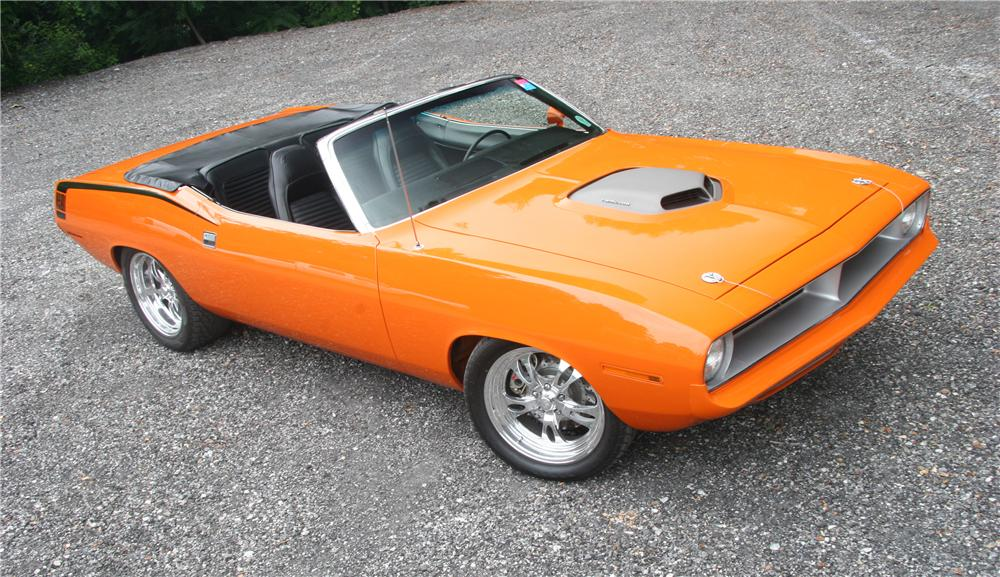 1970 PLYMOUTH CUDA CUSTOM CONVERTIBLE - Front 3/4 - 45576