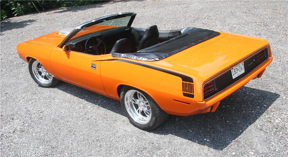 1970 PLYMOUTH CUDA CUSTOM CONVERTIBLE - Rear 3/4 - 45576