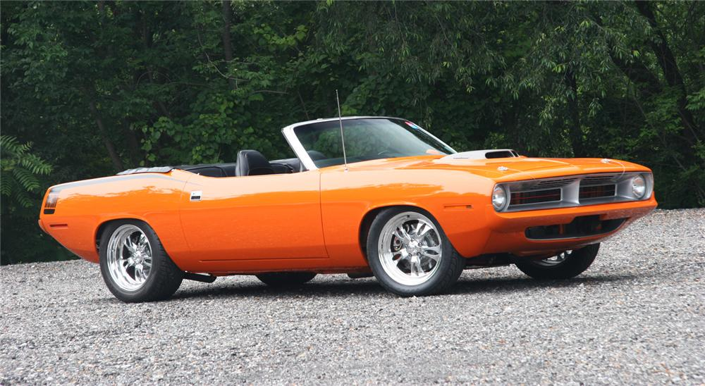 1970 PLYMOUTH CUDA CUSTOM CONVERTIBLE - Side Profile - 45576